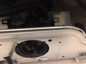 Faulty washing machine water re-circulation pump