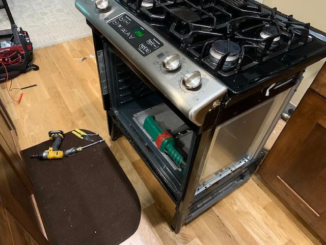 Oven needing repair